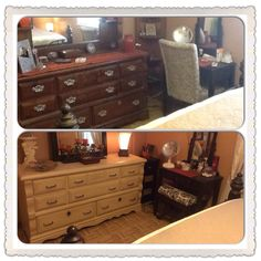 Before and after bedroom furniture DIY