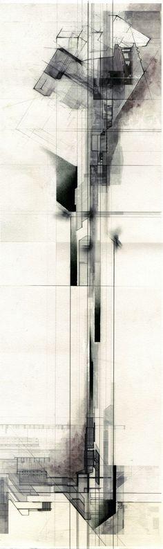 conceptual architecture /// Collin Cobia // tower diagram No related posts. Art Et Architecture, Architecture Graphics, Architecture Sketchbook, Architecture Diagrams, Architecture Portfolio, Classical Architecture, Art Abstrait, Abstract Art, Illustrations