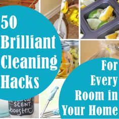 50 Brilliant Cleaning Hacks For Every Room In Your Home. Get Rid of that funky bathroom smell. Clean your hair brush in seconds. Mix up a magic formula to get rid of soap scum.