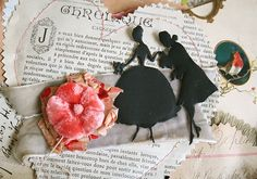 Gorgeous Valentine heart with silhouette couple!