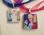 4th of July Sale 20% off Order now Frozen Elsa Anna Olaf Necklace