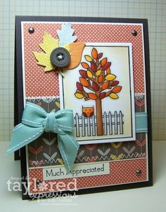 Much Appreciated Card by Jodi Collins #Thanksgiving, #Cardmaking