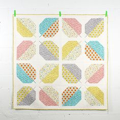 Turning Leaves Quilt {adaptation} <br>by Michelle Engel Bencsko Quilter's Cotton from Make It Sew Projects for Cloud9 Fabrics