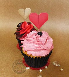 Pick for Cupcakes Origami Heart