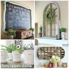 Inspire Your Joanna Gaines - DIY Fixer Upper Ideas on Frugal Coupon Living. Get that farmhouse look with these simple do it yourself ideas.