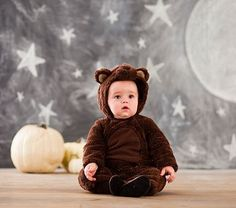 Baby Bear Costume #pbkids if he can't fit into the other one, he'd make a cute little brown bear;)