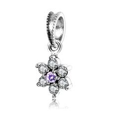 >> Click to Buy << 2017 Winter Forget Me Not Dangle Charms With Purple and Clear CZ Fit Pandora Bracelet 925 Sterling Silver Beads berloque Jewelry #Affiliate