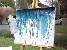 Bromstad demonstrates one of his favorite painting techniques. From the experts at .David Bromstad demonstrates one of his favorite painting techniques. From the experts at . Diy Canvas, Canvas Art, Painting Canvas, Painting Walls, Canvas Ideas, Acrylic Abstract Painting Techniques, Painting Furniture, House Painting, Diy Wall Art