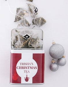 Looking for Christmas gift ideas for tea lovers? We've got you covered! This festive tea tin is the perfect Christmas gift for her! Add her name to the tin to make it even more special! Christmas Gifts For Girlfriend, Christmas Gifts For Friends, Christmas Tea, Christmas Gifts For Mom, Christmas Shopping, Incredible Gifts, Tea Tins, Festive, Gifts For Her