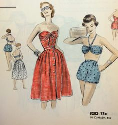 Page in a Vogue Patterns May 1955 catalog. #vintagesewing