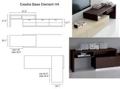 Exential TV Base Element H4 W47.2 / D20.1 / H21.2
