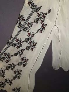 Folk Embroidery, Alexander Mcqueen Scarf, Detail, Shirts, Dresses, Fashion, Embroidered Clothes, Embroidered Blouse, Blouses