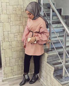 Street Hijab Fashion, Muslim Fashion, Modest Fashion, Hijab Style, Hijab Chic, Hijab Wear, Hijab Outfit, Hijab Elegante, Collage Outfits