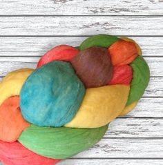 Rainbow Challah #bread #challah #rainbow #jewish #shabbat #judaism