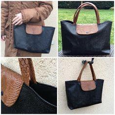 """Tuto grand sac façon """"Pliage"""" de Longchamps Sac Bicolore Cliquez ici pour accéder au patron et tutoriel Mini Sam' - Le ..."""