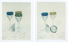 ANDY WARHOL (1928-1987) Committee 2000 Champagne Glasses two unique polaroid prints each: 4¼ x 3 3/8 in. (10.8 x 8.6 cm.) Executed in 1982.