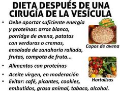Dieta gente sin vesicula