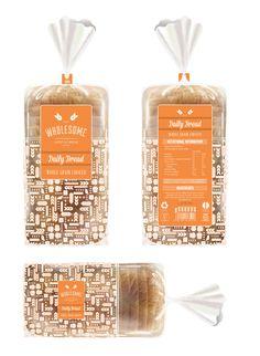 Bread Logo Food Packaging Behance New Ideas Bread Packaging, Bakery Packaging, Cookie Packaging, Food Packaging Design, Plastic Packaging, Brand Identity Design, Branding Design, Logo Design, Corporate Branding