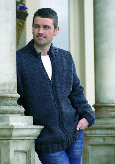 Jacket in Stylecraft Life Super Chunky Weaving Patterns, Hand Knitting, Men Sweater, Vogue, Mens Fashion, Sweaters, Cardigans, Men's Knits, Jackets