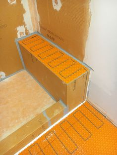 Why Heat Your Shower Bench? What are the benefits and advantages of heating a shower bench? Install a heat cable on shower bench to keep warm during shower. Plank Tile Flooring, Wood Plank Tile, Schluter Shower, Bathroom Tile Installation, Wood Tile Shower, Tub To Shower Remodel, Fiberglass Shower, Small Showers, Bathroom Layout
