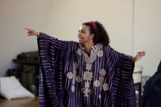 Adjoa Andoh in rehearsal for Julius Caesar.  Photo by Kwame Lestrade.