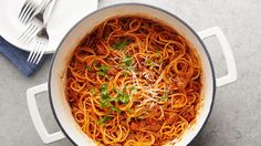 Every one-pot spaghetti recipe claims it, but this one really IS the best! It all starts with hearty Italian sausage, and instead of water, the noodles cook in a mixture of chicken broth and cream, so every bite is packed with amazing flavor and texture. It's the ultimate low-maintenance meal.