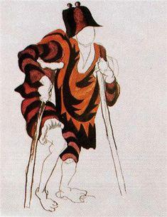 "Costume design for ballet ""Tricorne"", 1917 - Pablo Picasso - WikiArt.org"