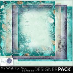 My Wish for You Collection by PattyB Scraps - This digital scrapbooking  collection was created with a beautiful blend of color, from bright to deep teal, with touches of light mint, brown, tan and purple. It is perfect for an elegant layout page with vintage or photos that you took yesterday.