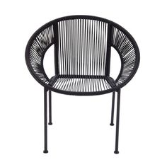 Comfortable Metal Plastic Rattan Chair