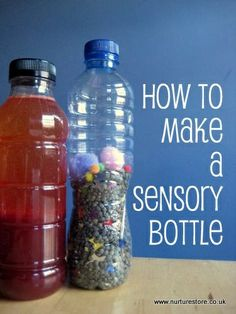 How to make a sensory bottle - wonderful for babies to play with