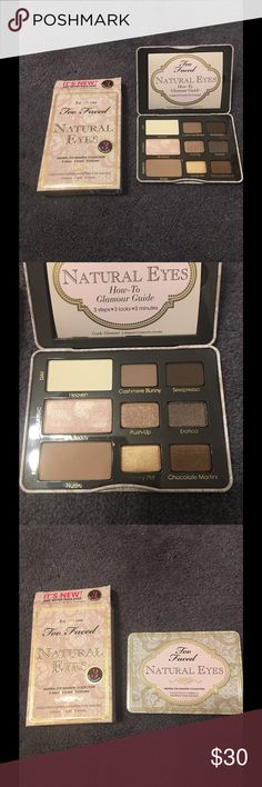 NIB Too Faced NATURAL EYES Neutral Shadow NIB Too Faced  Natural Eyes ~ Neutral Eye Shadow Collection  DETAILS  Look naturally gorgeous for any occasion, from everyday to your wedding day. Our best-selling Natural Eyes collection allows you to perfect the most flattering, most requested look in the glamour universe. Newly made over in the prettiest packaging, the palette features nine matte and shimmer shadows in beautiful neutrals ranging from soft and pretty to slightly sexy and three new…