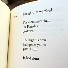 sappho poem tonight-ive-watched