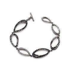 Clear And Black Drop Bracelet