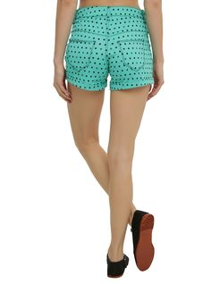 Disney The Little Mermaid Ariel Polka Dot High-Waisted Shorts, , alternate
