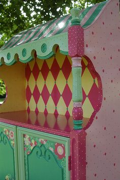 Whimsical Hand Painted Art Furniture | Spring Blossoms | Flickr - Photo Sharing!