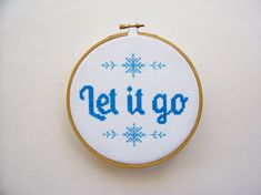 Frozen Cross Stitch Let it go from Disney's by threadsandthings1
