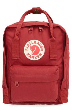 I want this! In Fog! Fjällräven 'Mini Kånken' Water Resistant Backpack available at #Nordstrom