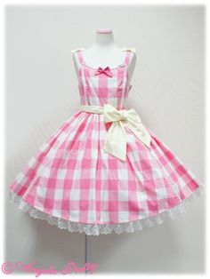 Angelic Pretty - Lady Gingham - 50's style #pink gingham dress. Love it!