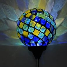 Garden Decor, Pond Decor, Fountains, Parts +More Solar Garden Stakes, Garden Pond, Glass Garden, Tabletop Fountain, Blue Green, Yellow, Solar Led, Mosaic Glass, Ceiling Lights