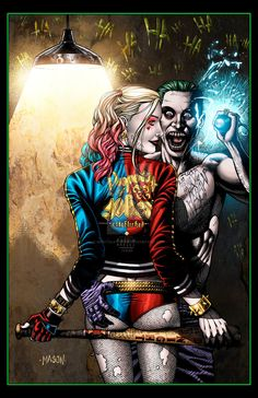 HARLEY and JOKER (SUICIDE SQUAD) by mentalstudios