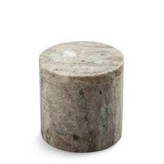 marmor krukke med låg - brown marble jar with lid nordstjerne