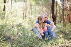 Sarah and Simon's engagement photos in the Bush!