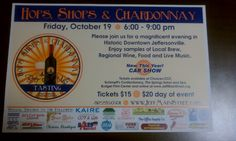 Hops, Shops and Chardonnay Event