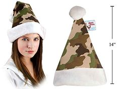 Santa Christmas 15 Tall Camouflage Hat -- You can get more details by clicking on the image.