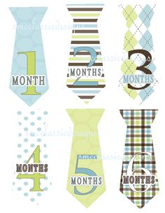 Boy Monthly Baby Onesie  Stickers  Gift  Blue by SMCclassicDESIGNS, $7.95