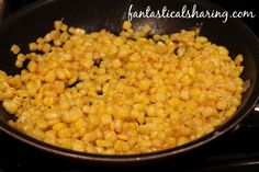 Easy Addictive Corn // 6 simple ingredients to make the best corn you'll ever have! Frozen Corn Recipes, Canned Corn Recipes, Corn Salad Recipes, Vegetable Recipes, Best Corn Recipe, Side Recipes, Dinner Recipes, Cheap Side Dishes, Barbecue Side Dishes
