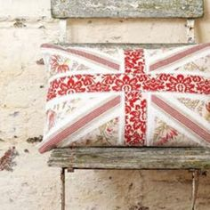 Union Jack pillow would love to get my mom to help me with this one!