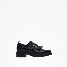 Image 1 of FRINGED BLUCHERS WITH BUCKLE from Zara