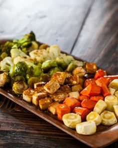 Roasted Tofu and Vegetables Recipe from Steamy Kitchen (Skip the carrots if making for SBD Phase One) #LowGlycemicRecipe #LowCarbRecipe