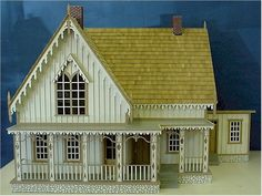 """The Lace House Kit- 8 Rooms-#1006  This House is a Replica of the  Historic Lace House in Blackhawk, Colorado  44-3/4""""W x 29-1/2""""D x 32-1/2"""" Tall  This is a Complete Kit. Everything Shown Is Included.  Side Opening Roof Panel and Hinged Side Access."""